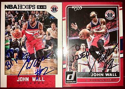 caecbd86c John Wall  2 Washington Wizards NBA auto autograph signed basketball card  LOT X2