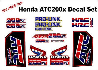 1986 Honda 350X ATC Wings Decals 86 1986 ATC350X 200X 250R ATC250R ATC200X 70