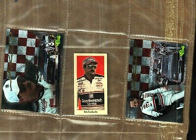 (3 DIFF. NICE  DALE EARNHARDT SR INSERTS  RACE CARDS # 49)