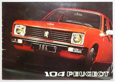 V07964 PEUGEOT 104 BERLINE