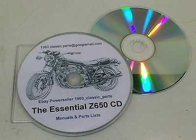 Restorers Guide KAWASAKI Z650 KZ650 Part List CD Tuning Carbs Wiring Diagrams