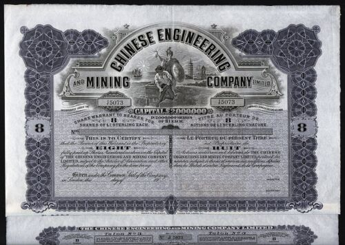 19__ London/China: The Chinese Engineering and Mining Company Limited - 8 Shares