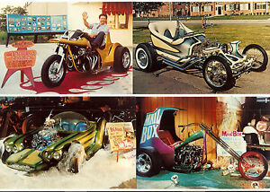 b ED Big Daddy ROTH Set of 8 RAT FINK Color Car Photos 1991 HOT ROD Custom TRIKE