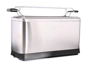 Kenwood Langschlitz Toaster TTM401 aus Edelstahl für 4 Toastscheiben