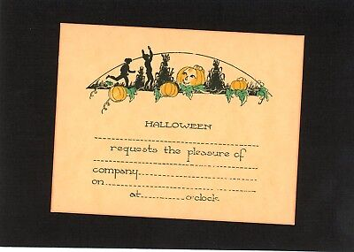 Halloween Vintage Invitation Card](Halloween Invitation)