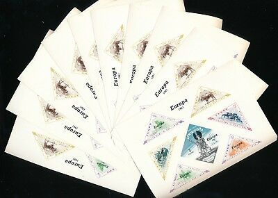 LUNDY GB Local 1961 Europa Imperf Wildlife Mini Sheets MNH x 10(K2008)
