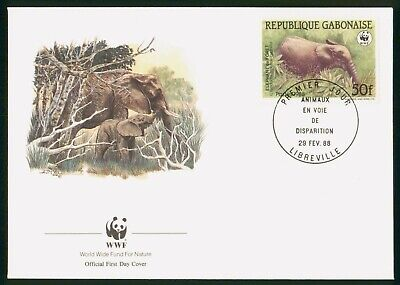 Mayfairstamps Gabon FDC 1988 Elephant First Day Cover wwo_57943