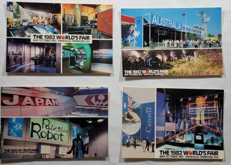 1982 Worlds Fair. Large Lot. Japan. Ronald Reagan. Australia Postcard Collection