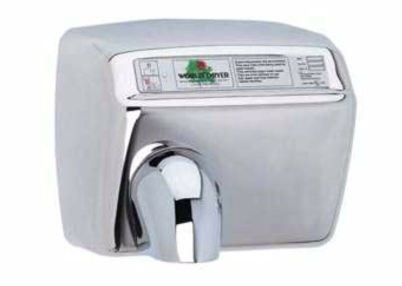 World Dryer XA5  Automatic hand dryer White Cast metal (NEW)
