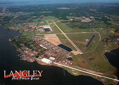 Aerial View of Langley Air Force Base Virginia Langley Field - Military -