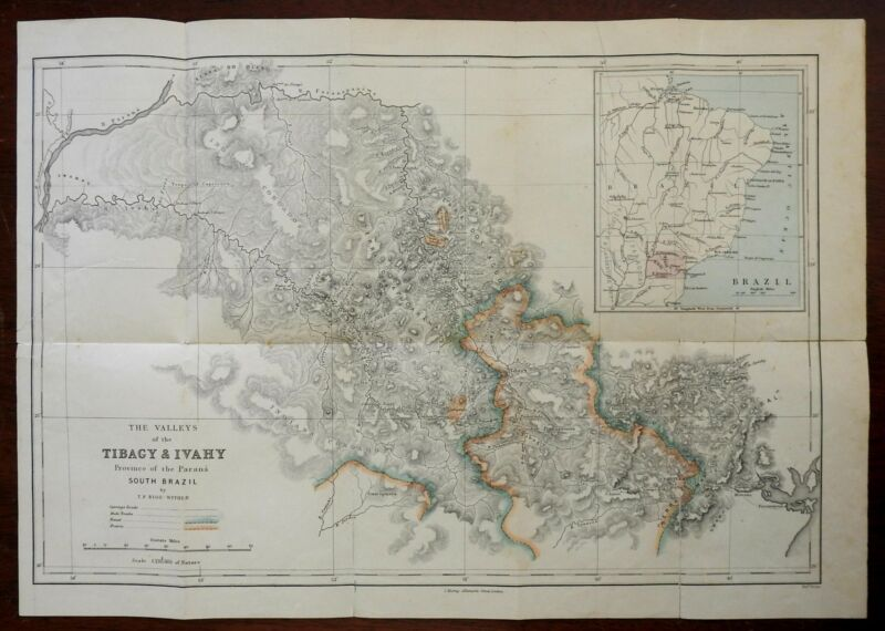 Parana Brazil Tibagy Ivahy Valleys Curitiba So America 1860