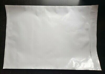 100 - Clear 7 X 10 Packing List Envelope Invoice Slip Self Seal Pouch