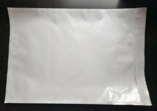 "100 - Clear 7"" x 10"" Packing List Envelope Invoice Slip Self Seal Pouch"