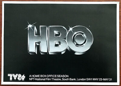 HBO TV84 NFT National Film Theatre Flyer 1984