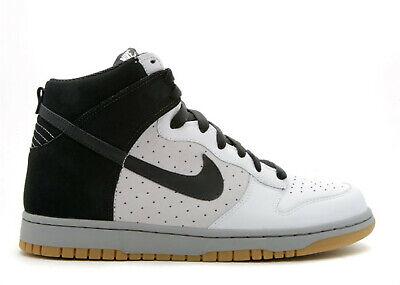 2008 Nike Dunk High Premium SZ 11 White Black Medium Grey SB Gum