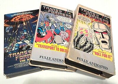 TRANSFORMERS ANIMATED VHS CARTOON SERIES VOL 6, 7 (1985) & THE MOVIE (1987) RARE