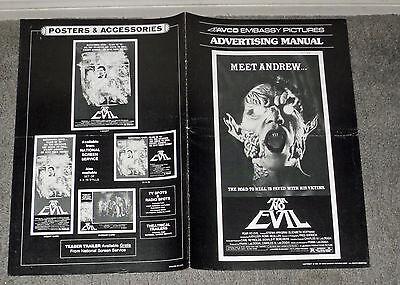 FEAR NO EVIL original 1981 HORROR movie pressbook STEFAN ARNGRIM