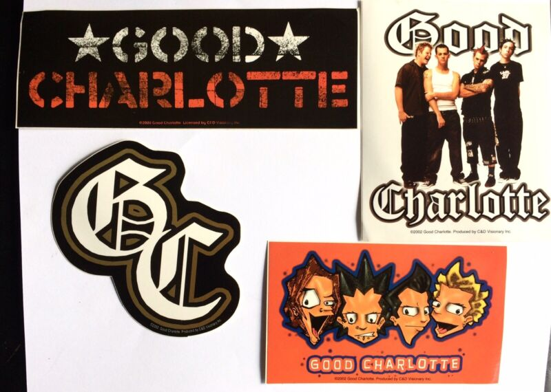 Vintage Good Charlotte 4 Sticker Pack. Authentic Band Merch.