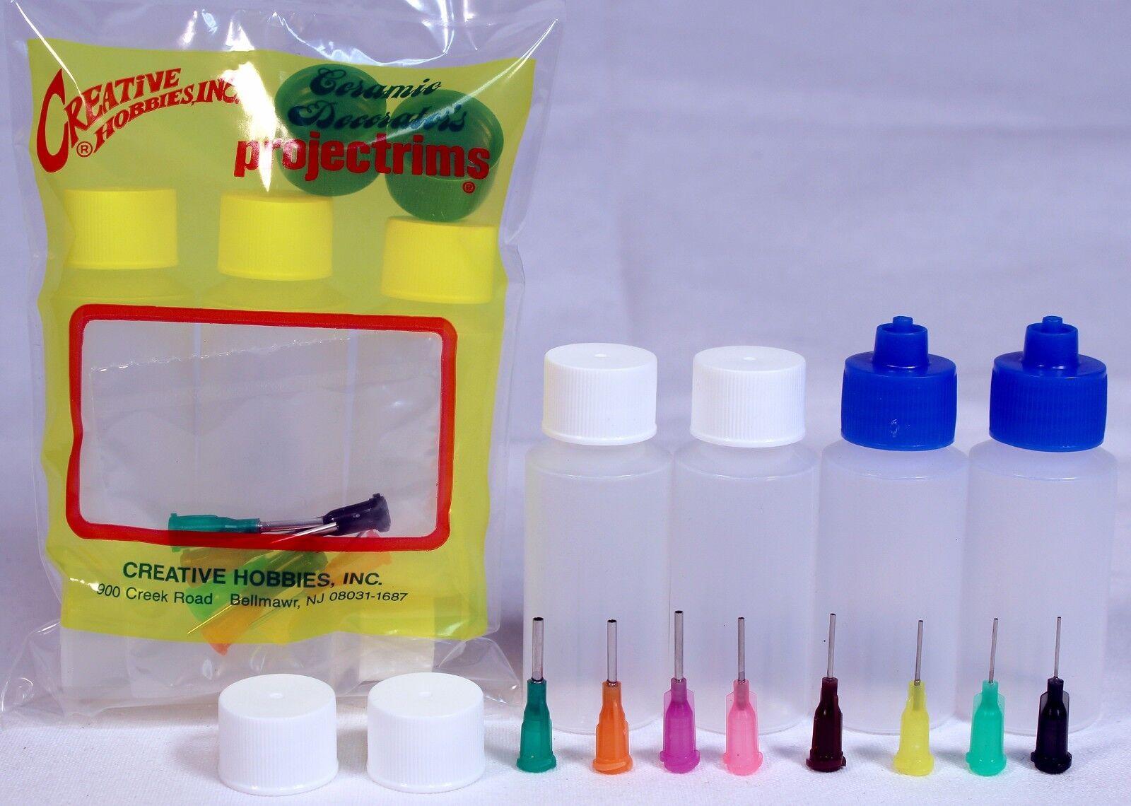 Multi Purpose Precision Henna Applicator Super Set, 4 Bottles, 8 Tips, 6 Caps Health & Beauty