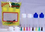 Multi Purpose Precision Henna Applicator Super Set, 4 Bottles, 8 Tips, 6 Cap