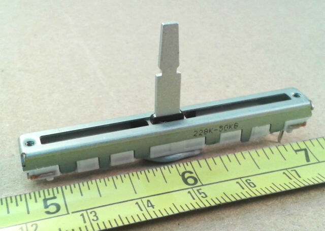 45mm Slider Travel Linear Fader Potentiometer B50K Pot, Mono 60mm Length
