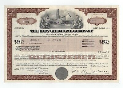 The Dow Chemical Company Bond W Vignette With 2 Men   Building