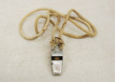 "VINTAGE ""THE ACME THUNDERER"" WHISTLE WITH CORK BALL MADE IN ENGLAND"