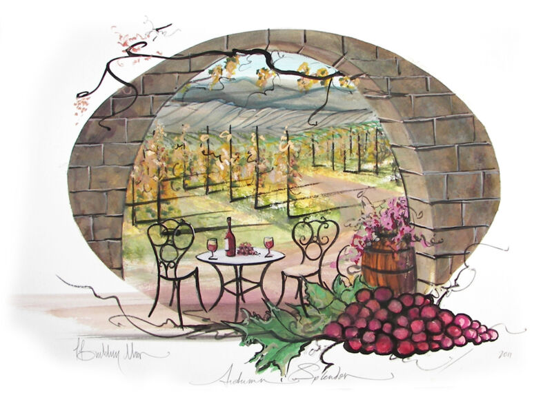 Autumn Splendor P. Buckley Moss Print - Vineyard