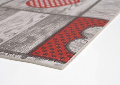 Küchenläufer Terramat Antirutsch Matte für Boden, wood heart, Größe wählbar ()