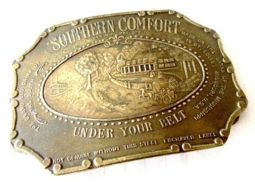 """Southern Comfort Brass Belt Buckle - 3.75"""" x 2.75"""""""