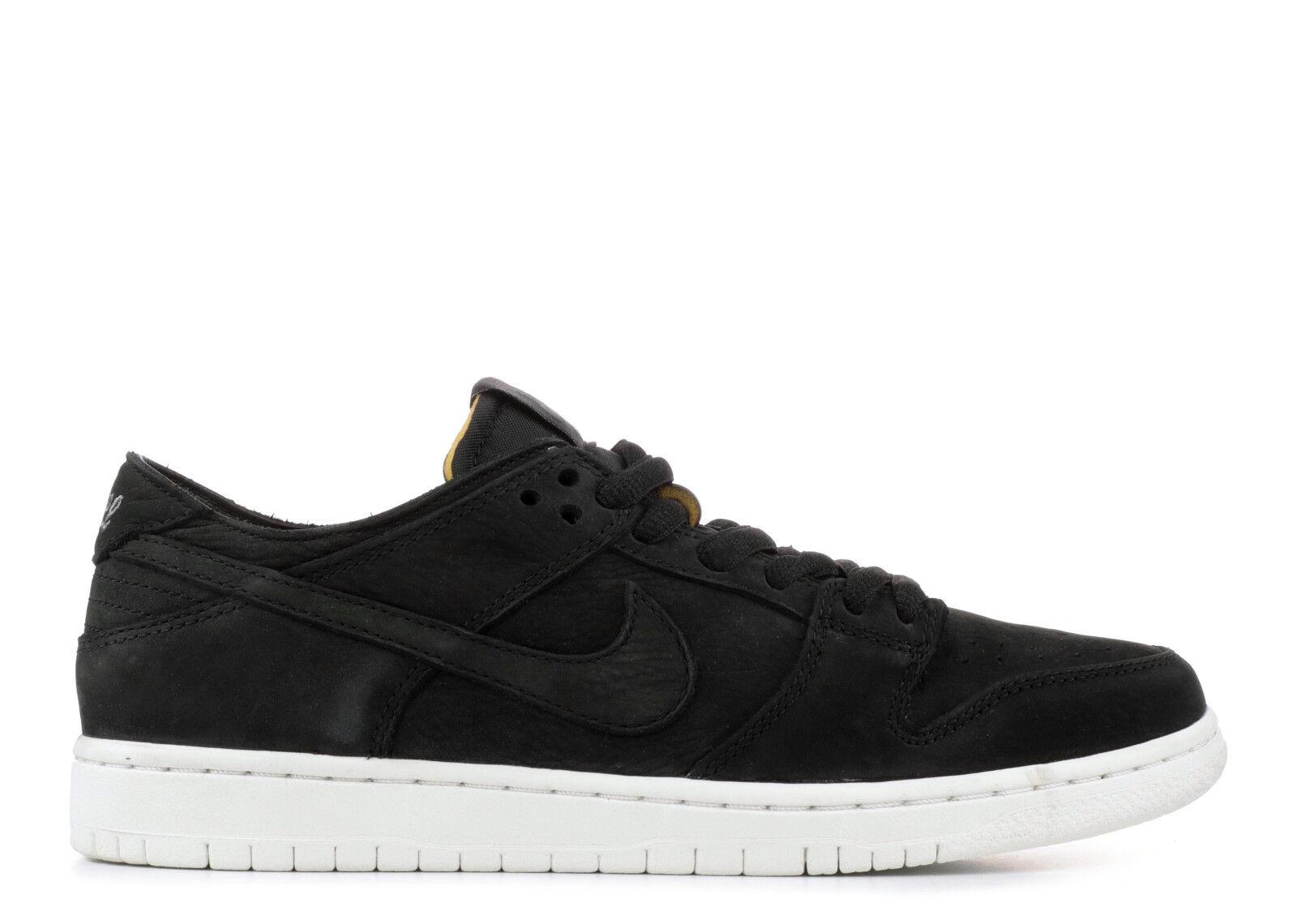 Nike Dunk SB Zoom Low Pro BLACK WHITE GUM BOTTOM SOLE HIGH OG 854866-019 sz 7