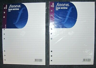 Two Filofax 172210 Deskfax Organizer B5 Notepads White Ruled