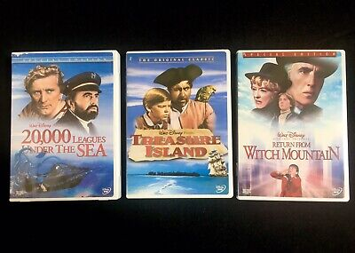 Disney 20,000 Leagues Under The Sea, Treasure Island, Return Witch Mountain DVDs