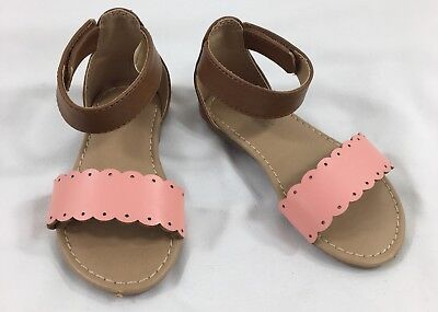 Old Navy Baby Girls Dressy Sandals Shoes Size 6 Pink & Brown Ankle Strap](Girls Dressy Shoes)