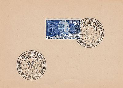 Bund, Michel Nr. 116, Sonderpostkarte mit Ersttagsstempel, Attest Schlegel