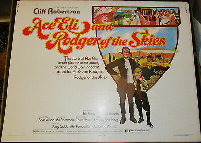 Ace Eli and Rodger of the Skies! '73 C.ROBERSTON ORIGINAL 1/2-SHT FILM POSTER!