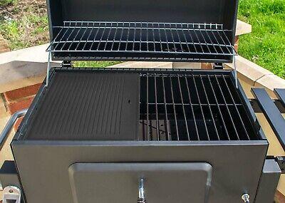 Grillplatte Wendeplatte Pizzaplatte Gusseisen für Gas Grill 41,5cm x 31,5cm
