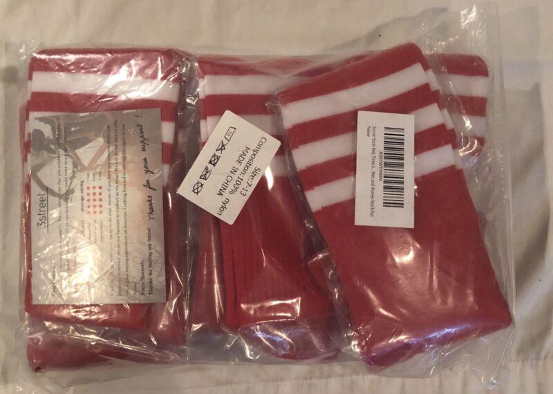 8 PAIR 3street Soccer Compression Socks Unisex Size 7-13