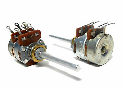 Philco Usa Dual 500 Ohm 10k Ohm 2 Gang Pot Potentiometer Linear Taper Nos New