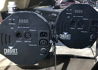 2 X Chauvet Slim Par 56 LED DMX Disco Dj Lights