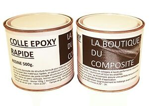 kit de 625g de colle epoxy bi composants pour collages et. Black Bedroom Furniture Sets. Home Design Ideas