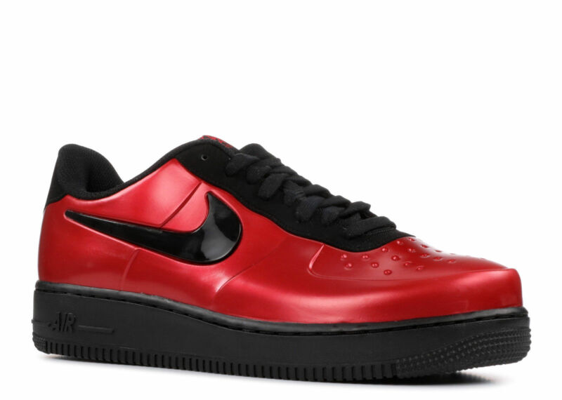 a2843824862 NIKE AIR FORCE 1 FOAMPOSITE PRO CUP LOW GYM RED BLACK SIZE 9 AJ3664 ...
