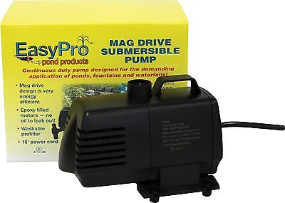 EasyPro 1050 GPH Submersible Mag Drive Pond & Fountain Pump - EP1050