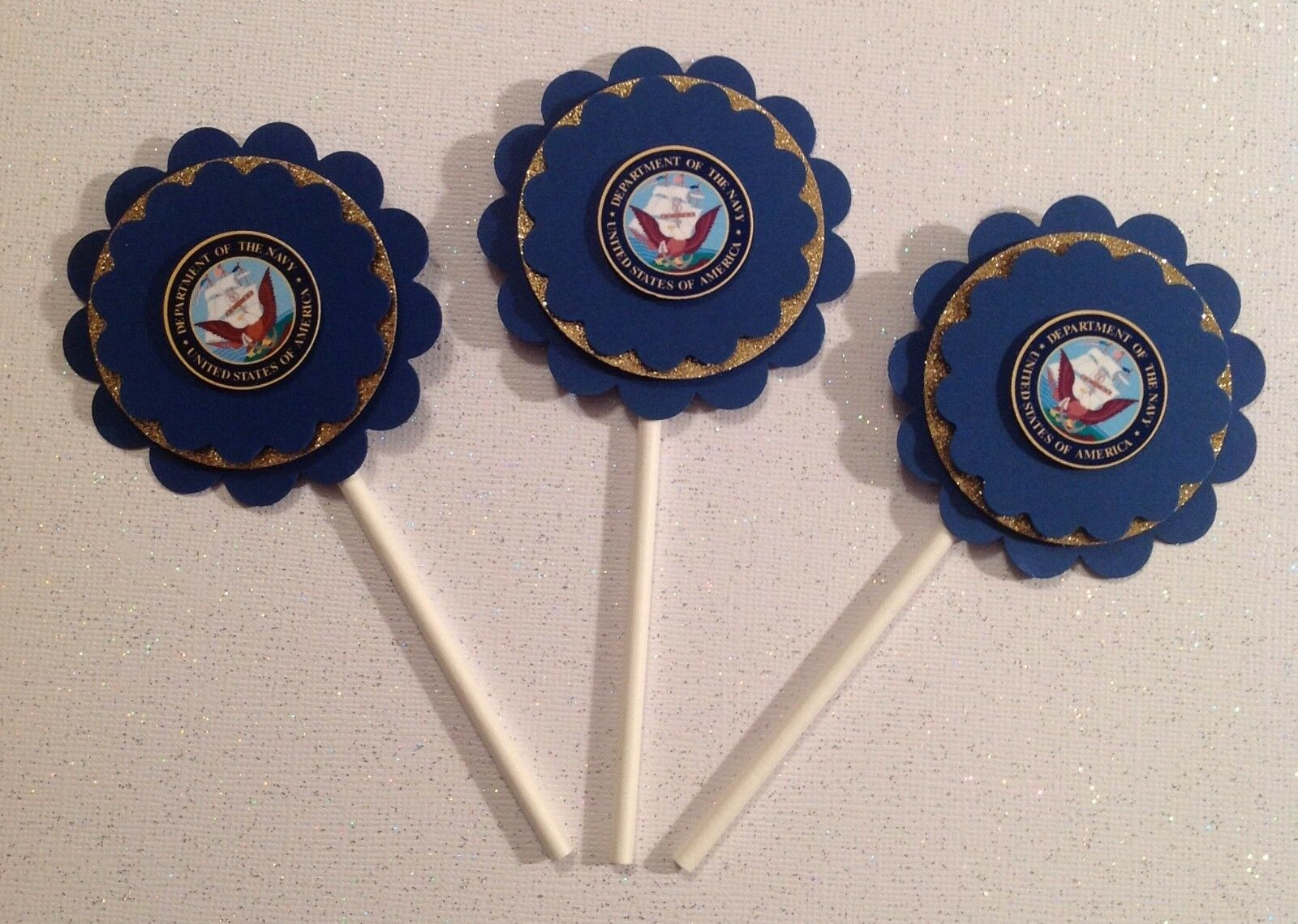 Navy Cupcake Toppers  Military Induction Birthday Anniv Part