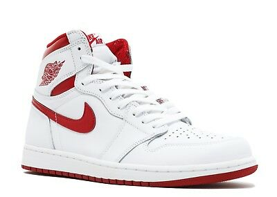 RED AND WHITE AIR JORDAN 1 RETRO HIGH OG