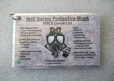 (TEN) ~ M40/M42 Gas/Field Mask PMCS Laminated Instruction Cards M40A1 ~FREE SHIP for sale  Gainesville