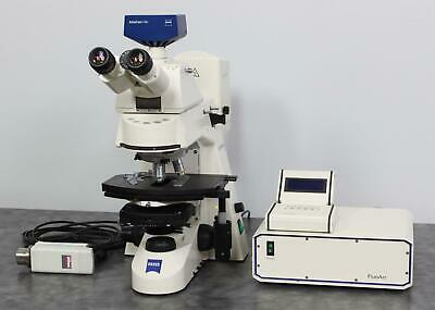 Zeiss Axioskop 2 Plus Phase-contrast Microscope W Axiocam Hrc Camera Warranty