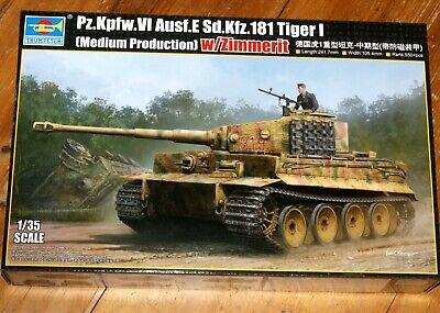 """Trumpeter 09539 : Dt. Panzerkampfwagen VI Ausf.E Sd.Kfz.181 """"TIGER 1"""" / Kit 1:35"""