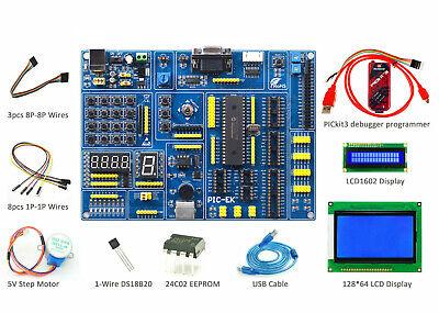 Pic Development Board Pic-ek Kit Pickit3 Lcd1602 Lcd12864 Ds18b20 Step Motor