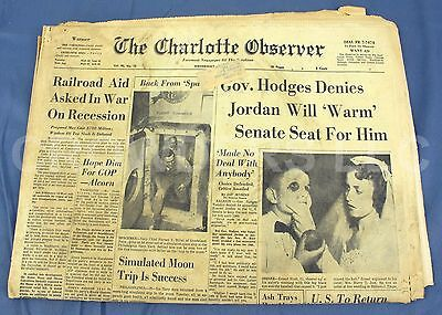 The Charlotte Observer Newspaper Section A B April 23 1958 Simulated Moon Trip